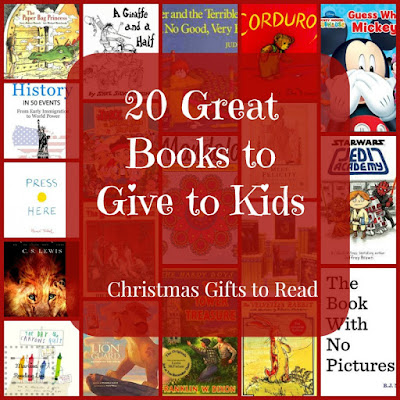 20 Great Books to Give to Kids:  Christmas Gifts to Read   A Children's Corner Feature on Reading List