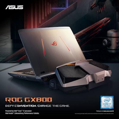 ASUS Republic of Gamers GX800 dibanderol dengan harga Rp95.499.000