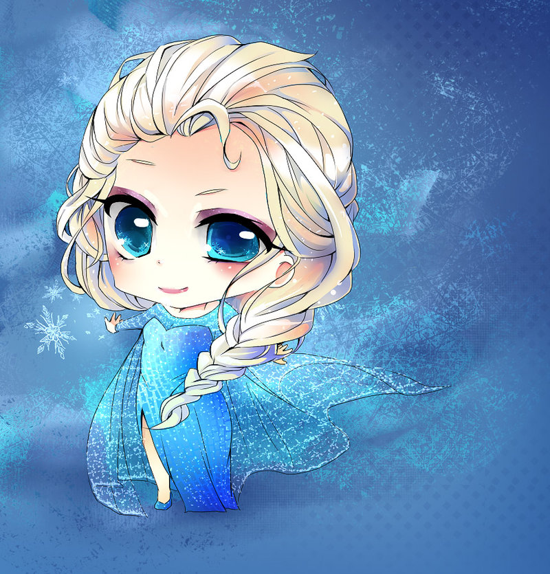 princess Elsa chibi công chúa nữ hoàng băng giá 6