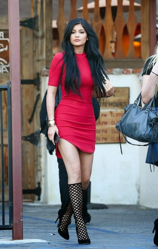 Kylie Jenner Stepped Out Wearing a Hot Red Dress