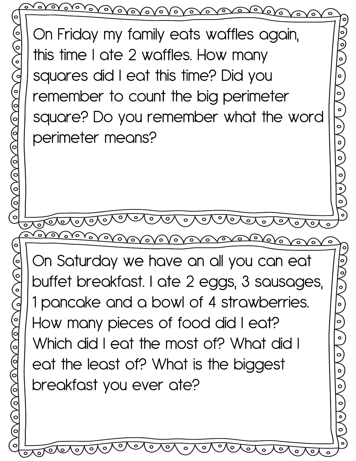 The Crazy Pre K Classroom New It S Breakfast Time Math And Literacy Unit And A Freebie