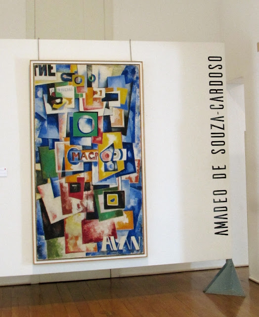 Quadro na entrada do Museu Amadeo Sousa Cardoso