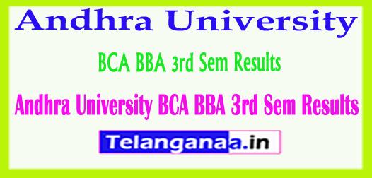 Andhra University BCA BBA 3rd Sem Results 2018