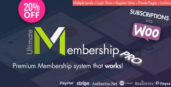 Ultimate Membership Pro v5.0 - WordPress Plugin