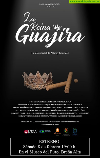 El documental 'La Reina Guajira', de Altahay González, se presenta este sábado día 8 en el Museo del Puro de Breña Alta