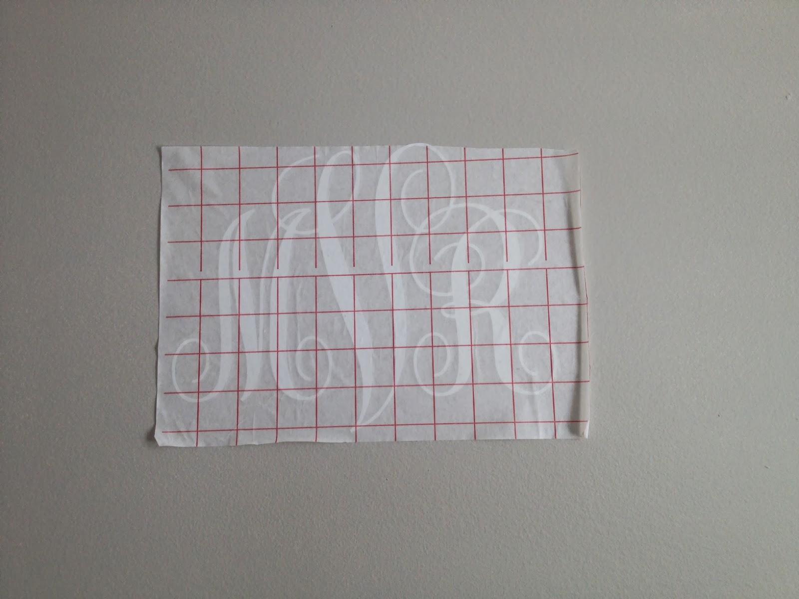 Vinyl, monogram, wall art, Silhouette tutorial, Silhouette Studio, transfer paper