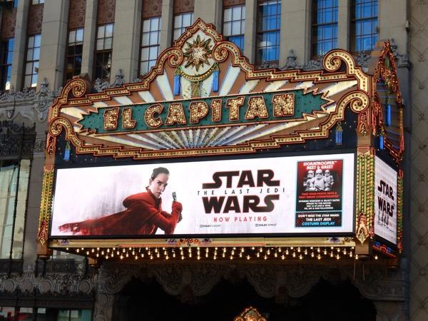 Star Wars Last Jedi El Capitan Theatre