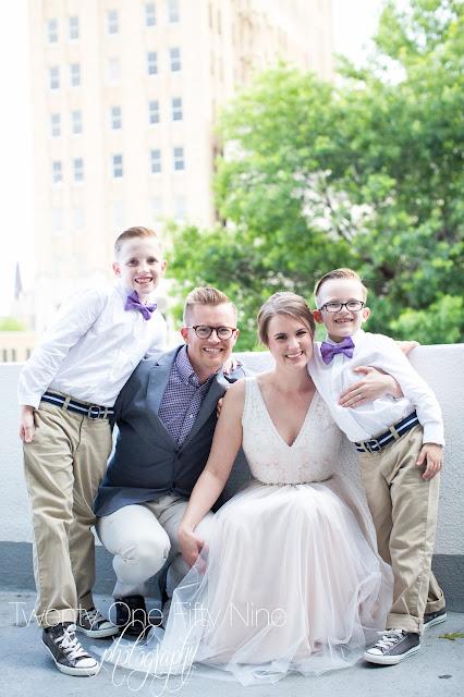Blended family, Tulsa Wedding, Family Photography
