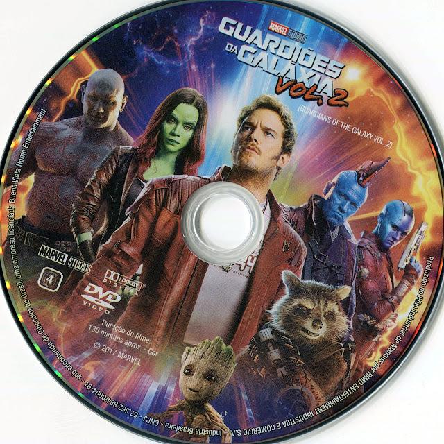 Label DVD Guardiões da Galáxia Vol. 2 (Oficial)