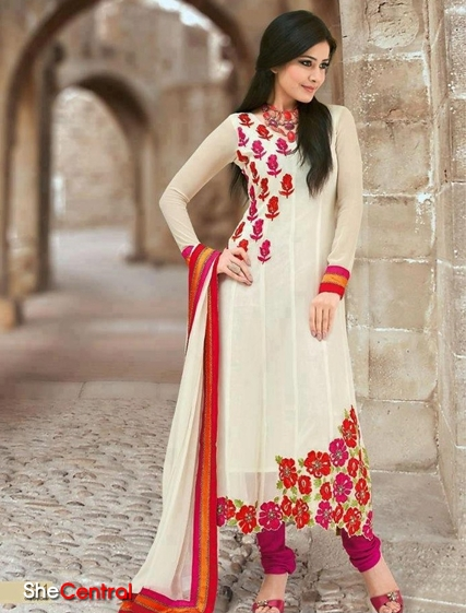 Pakistani Long Kameez Designs 2013 14 Latest Churidar Kameez