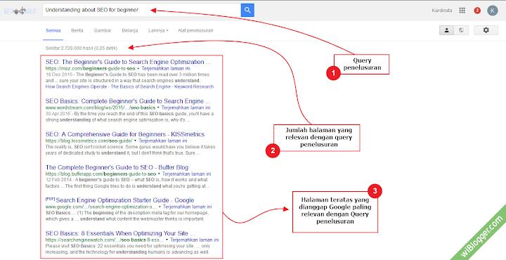 Contoh hasil pencarian mesin pencari google