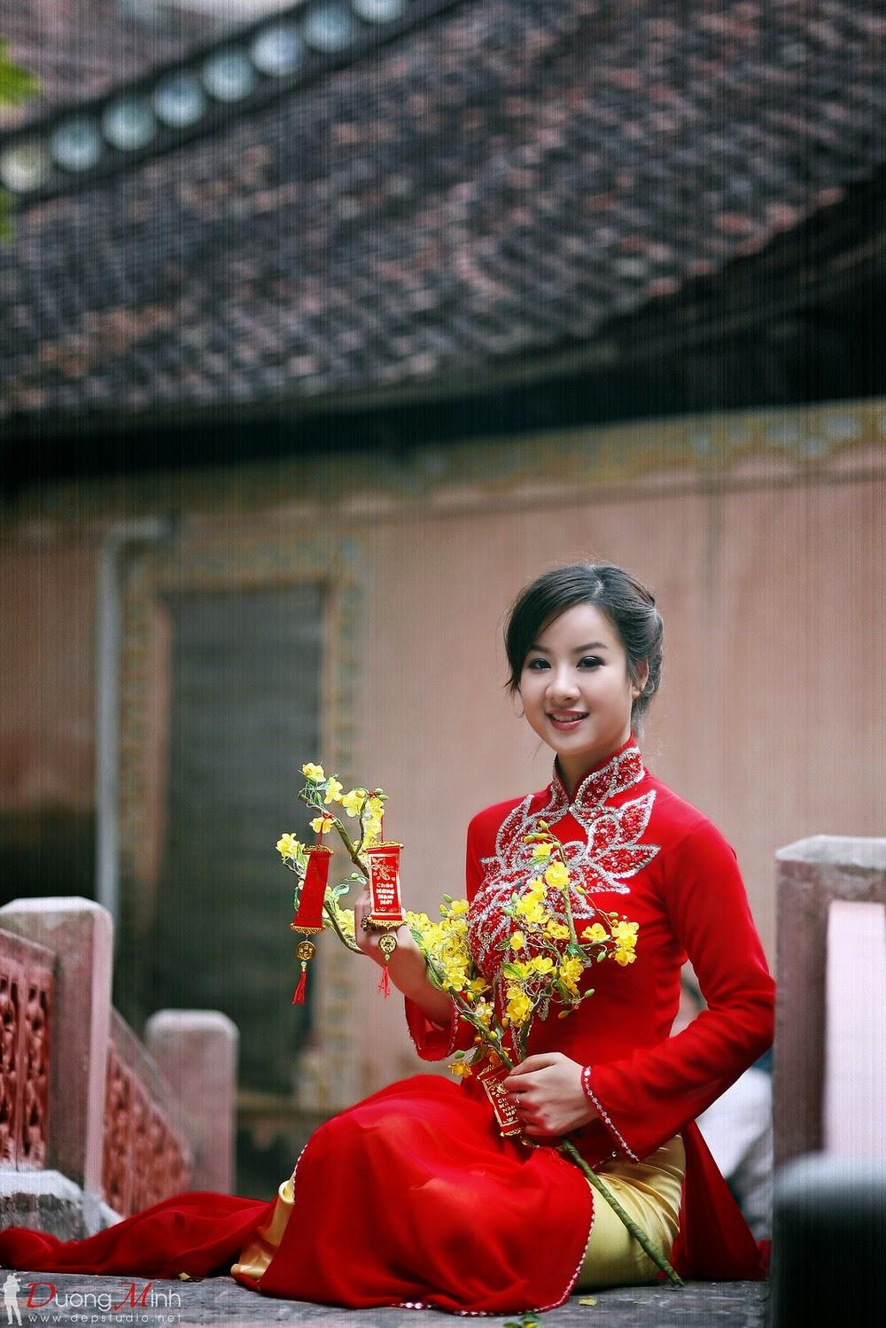 Ảnh đẹp girl xinh Áo dài truyền thống Việt Nam - Ảnh 09