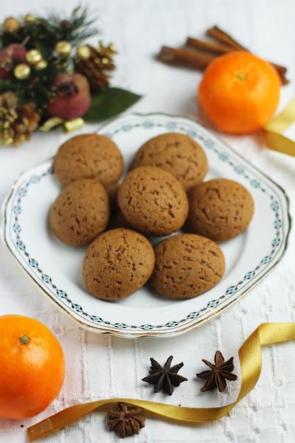 Piernikowo-pomarańczowe ciasteczka