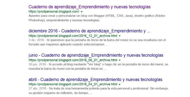 Resultados en Google