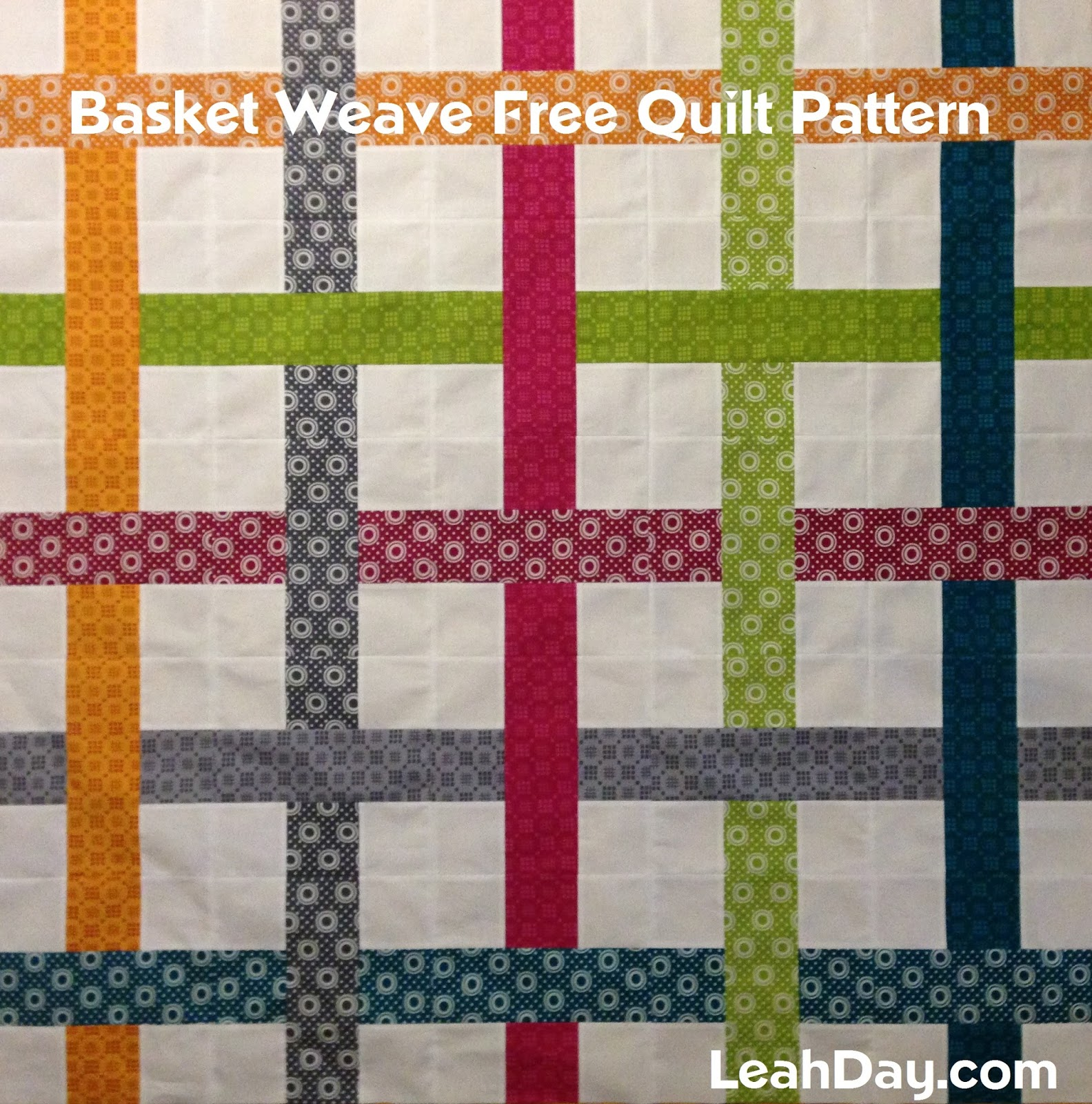 Free Basket Weaving Patterns Pictures : The free motion quilting project easy basket weave quilt