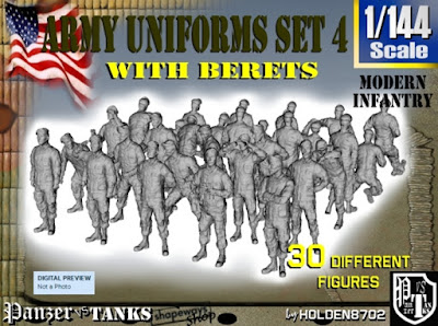 1-144 Army Modern Uniforms Set 4 picture 1