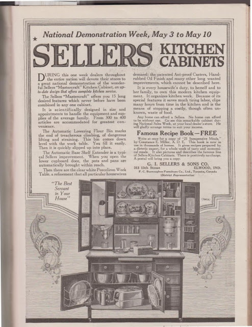 Antiques Attic Hoosier Style Cabinets