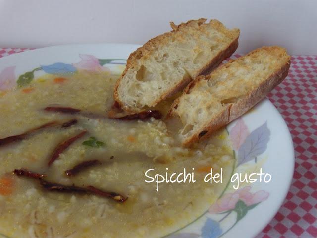 Zuppa di miglio e orzo perlato
