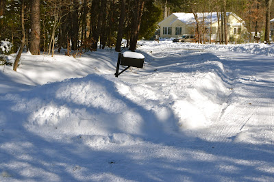 mail box covered by snow. No mail delivery for a while.