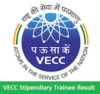 VECC Stipendiary Trainee Result