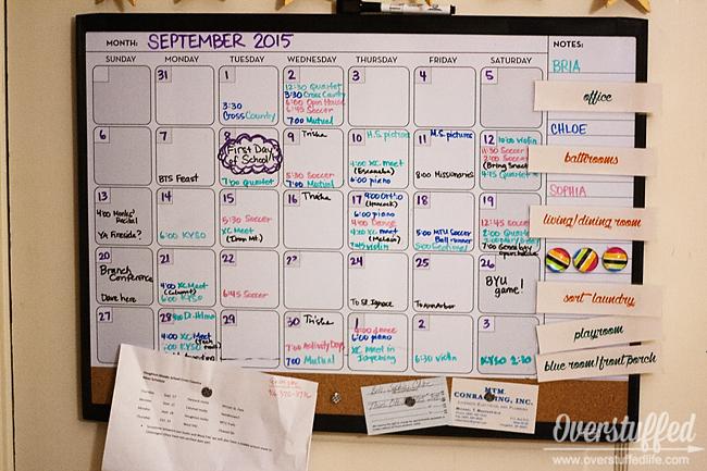Calendar Whiteboard Ideas : Make your home happier with a family calendar overstuffed