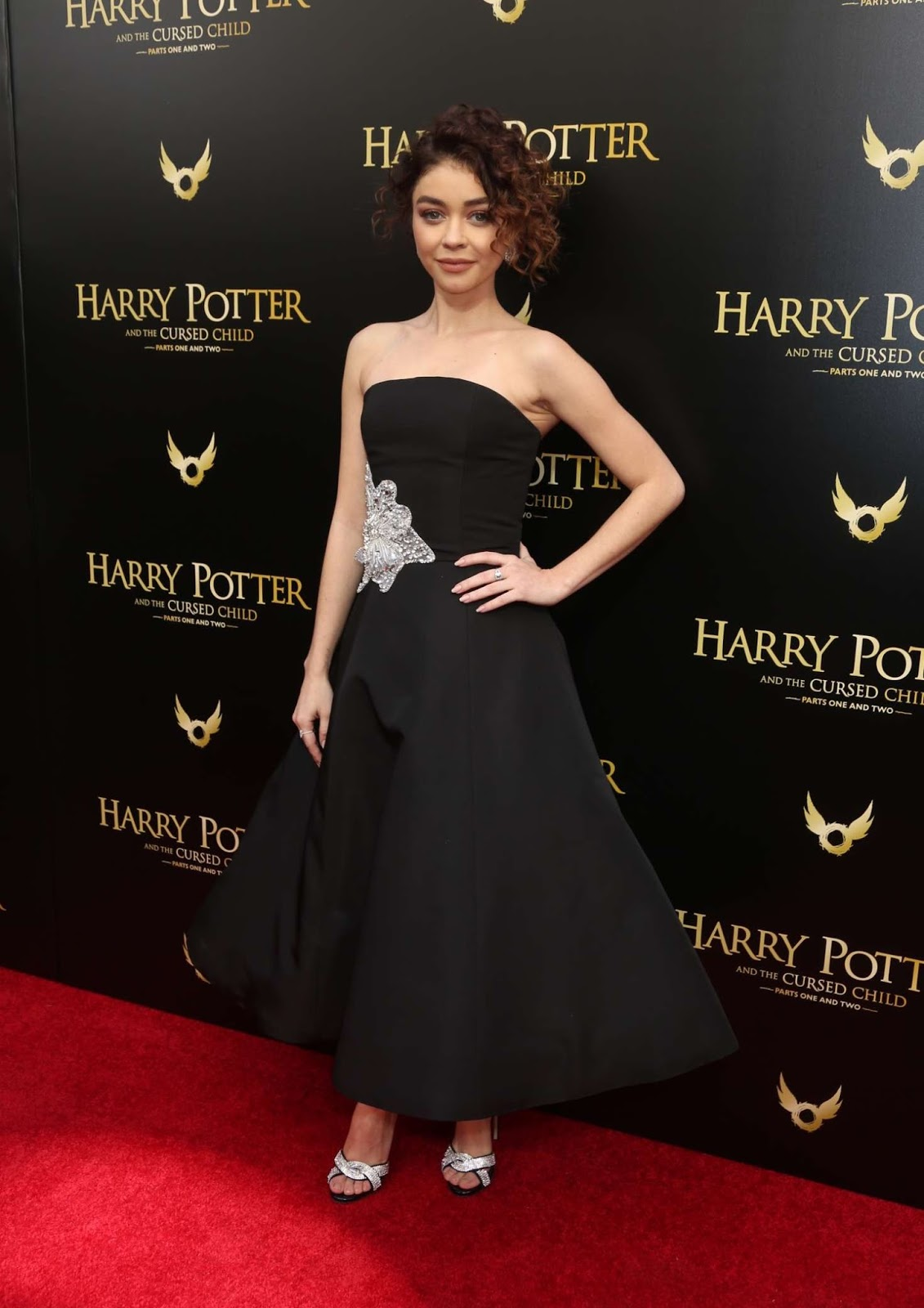 Sarah Hyland goes strapless for Harry Potter and the Cursed Child NY Opening Day