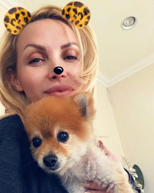 Nikki-Benz-personal-selfie-with-her-baby-on-Instagram