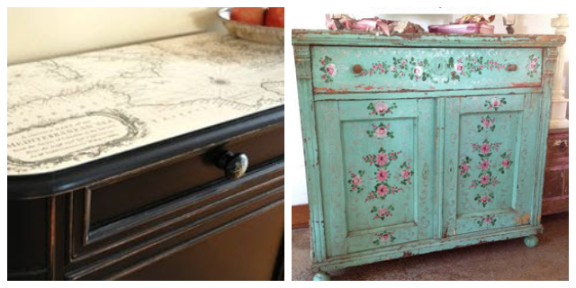 DECOUPAGE FURNITURE IDEAS