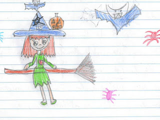 Resultado de imagen de dibujo halloween REALIZADO POR NIÑOS