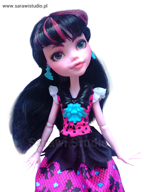 draculaura, lalka, doll, monster high, mh, ever after high, eah, repaint, repaintinig, customizing, customize, przeróbka, diy,