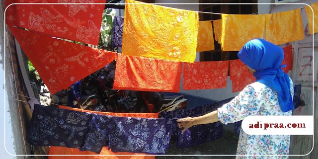 Hasil Mencelup Warna Batik Dengan Napthol | adipraa.com