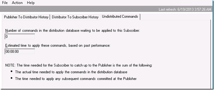 Script to get undistributed commands in replication - SQL Server