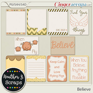 Creative Team, Annemarie, for GingerScraps – Believe, Heather Z Scraps December Template Challenge 1 with Miss Fish   and Freebie