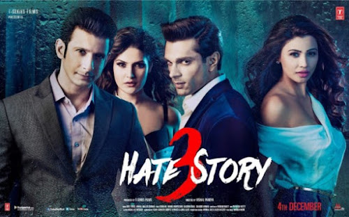 Poster Of Hindi Movie Hate Story 3 2015 Full HD Movie Free Download 720P Watch Online movies365.in