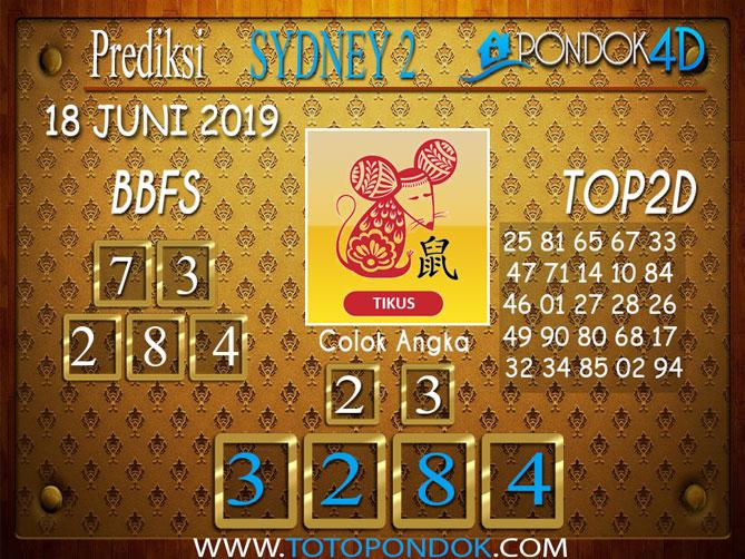 Prediksi Togel SYDNEY 2 PONDOK4D 18 JUNI 2019