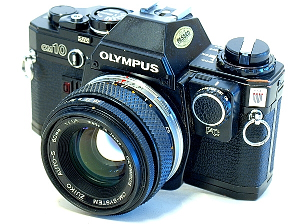 Olympus OM-10, Top oblique