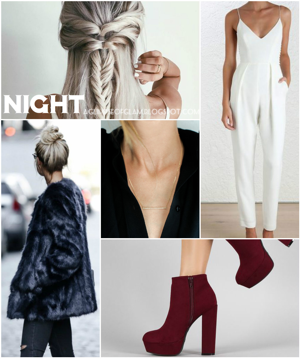 A Glimpse of Glam: Night Look Mood Board AUrate New York - Andrea Tiffany