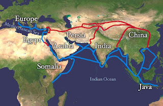 The Silk Road network of routes