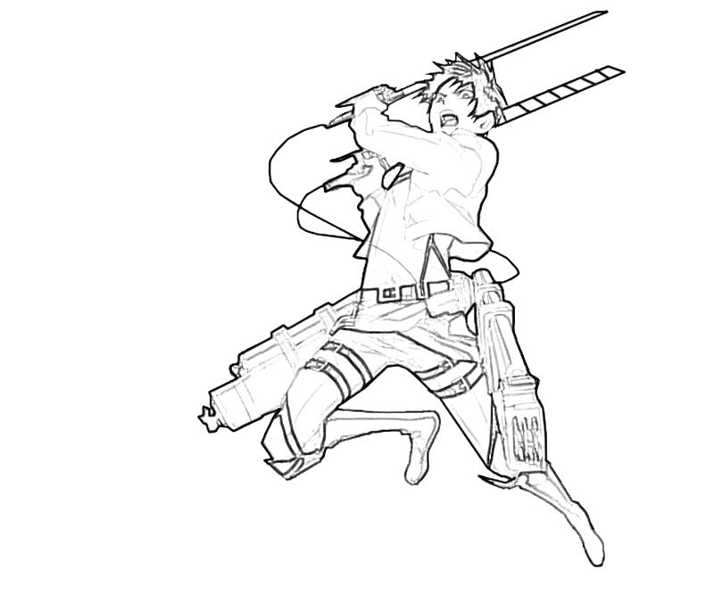 Eren jaeger attack nintendo wee for Attack on titan coloring pages