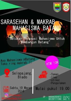 FORKOMBI - Sarasehan dan Makrab Mahasiswa Batang