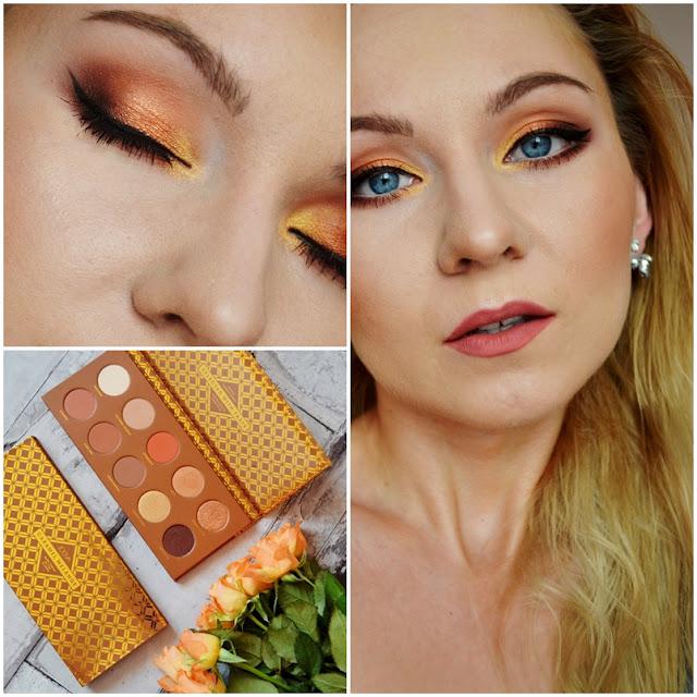 Caramel melange zoeva, najlepsze cienie, paleta cieni, caramel melange makijaż, paleta ciepłych cieni