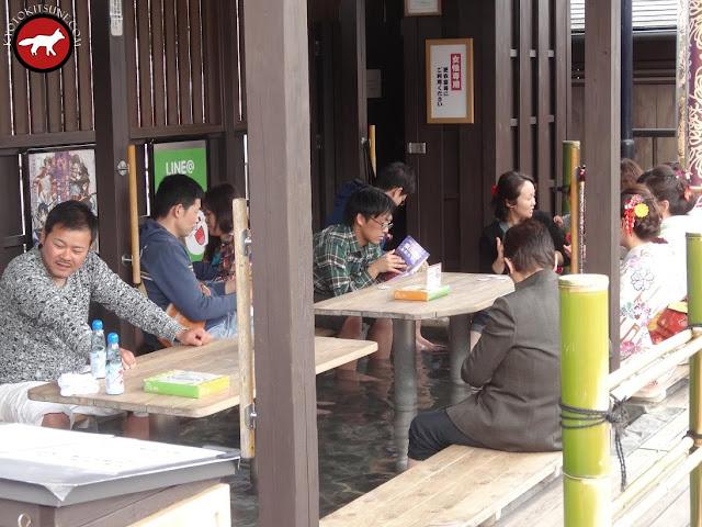 Onsen dans la gare de Arashiyama à Kyoto