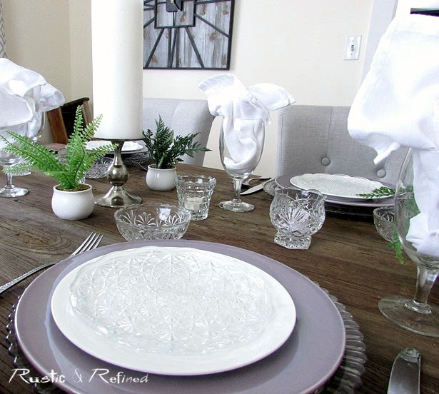 Romantic Table Setting Idea using Thrift Store Dishes