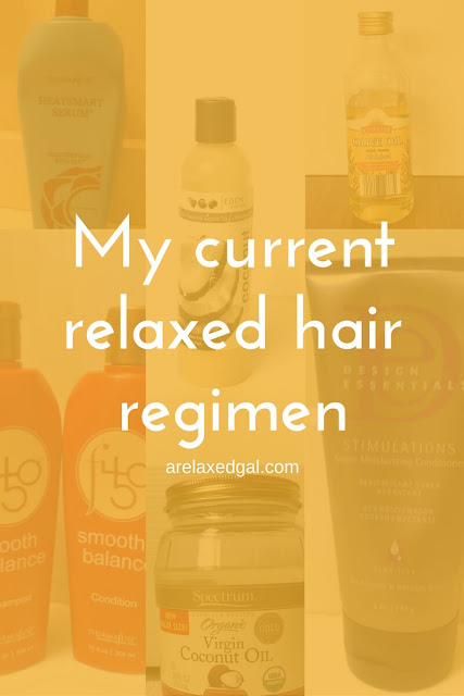 My current relaxed hair regimen. | arelaxedgal.com