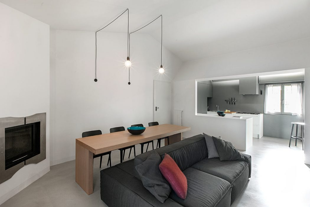 Cocina abierta y sal n comedor de una casa moderna - Cocina salon comedor ...