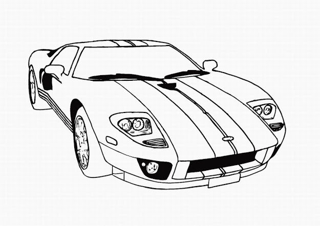 Kids Coloring Pages Of Cars  Carscoloringpagesforkids