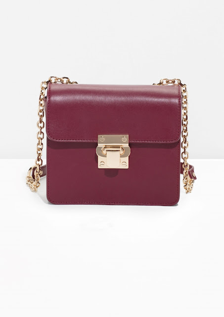 stories burgundy handbag