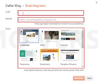 Panduan Cara Membuat Blog Di Blogspot