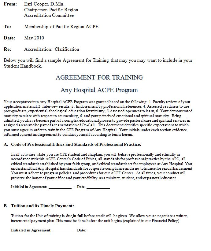 Training Agreement Form 9-Employee Training Contract-Agreement - agreement form doc