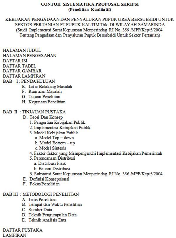 Sistematika Penulisan Proposal Tesis Kualitatif Suplemen Penulisan